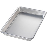 Chicago Metallic 41800 Eighth Size 16 Gauge Aluminum Customizable Sheet Pan - Curled Rim, No Wire, 6 1/2 inch x 9 1/2 inch