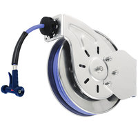 T&S B-7212-11 15' Open Epoxy Coated Steel Hose Reel with MV-3516-24 Aluminum Rear Trigger Water Gun