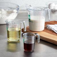 WebstaurantStore 3-Piece Clear Polycarbonate Measuring Cup Set