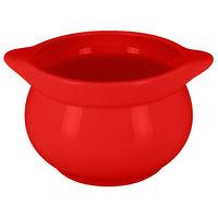 RAK Porcelain CFST10BRBD Chef's Fusion 15.2 oz. Ember Red Round Porcelain Tureen - 2/Case