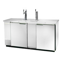 Beverage-Air DD68HC-1-S 1 Single and 1 Double Tap Kegerator Beer Dispenser - Stainless Steel Front, (3) 1/2 Keg Capacity