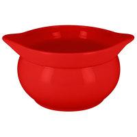 RAK Porcelain CFST15BRBD Chef's Fusion 38.9 oz. Ember Red Round Porcelain Tureen - 2/Case