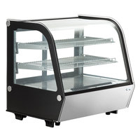 Avantco BCC-28-HC 27 1/2 inch Black Refrigerated Countertop Bakery Display Case with LED Lighting