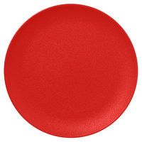 RAK Porcelain NFNNPR29BR Neo Fusion 11 3/8 inch Ember Red Porcelain Flat Coupe Plate - 12/Case
