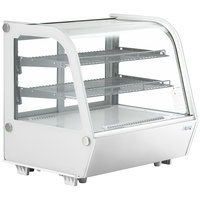 Avantco BCC-28-HC 27 1/2 inch White Refrigerated Countertop Bakery Display Case with LED Lighting