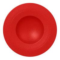 RAK Porcelain NFGDDP23BR Neo Fusion 9 1/16 inch Ember Red Porcelain Deep Plate - 6/Case