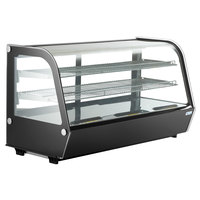 Avantco BCC-48-HC 48 inch Black Refrigerated Countertop Bakery Display Case with LED Lighting
