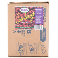 Fox's Bag in Box Cranberry Juice Syrup - 3 Gallon