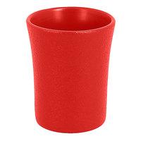 RAK Porcelain NFSPCU09BR Neo Fusion 3.1 oz. Ember Red Porcelain Cup - 12/Case