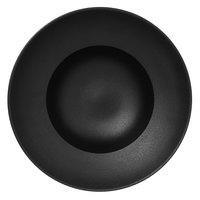 RAK Porcelain NFCLXD23BK Neo Fusion 9 1/16 inch Volcano Black Porcelain Extra Deep Plate - 6/Case