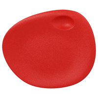 RAK Porcelain NFNBFP31BR Neo Fusion 12 3/16 inch Ember Red Porcelain Coupe Plate - 6/Case