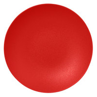 RAK Porcelain NFBUBC26BR Neo Fusion 10 1/4 inch Ember Red Porcelain Deep Coupe Plate   - 12/Case