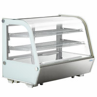 Avantco BCC-35-HC 34 1/2 inch White Refrigerated Countertop Bakery Display Case with LED Lighting