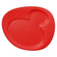 RAK Porcelain NFNBFP24BR Neo Fusion 9 7/16 inch Ember Red 2-Basin Porcelain Plate - 12/Case