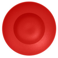 RAK Porcelain NFCLXD26BR Neo Fusion 10 1/4 inch Ember Red Porcelain Extra Deep Plate - 6/Case