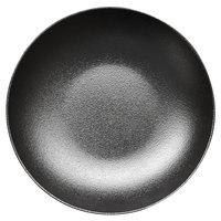 RAK Porcelain NFNNDP23BK Neo Fusion 9 1/8 inch Volcano Black Porcelain Deep Coupe Plate - 12/Case