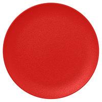 RAK Porcelain NFNNPR31BR Neo Fusion 12 3/16 inch Ember Red Porcelain Flat Coupe Plate - 6/Case