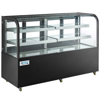 Avantco BC-72-HC 72 inch Curved Glass Black Refrigerated Bakery Display Case