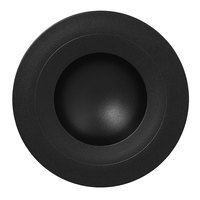 RAK Porcelain NFGDDP23BK Neo Fusion 9 1/16 inch Volcano Black Porcelain Deep Plate - 6/Case