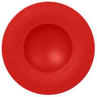 RAK Porcelain NFGDDP29BR Neo Fusion 11 3/8 inch Ember Red Porcelain Deep Plate - 6/Case