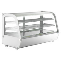 Avantco BCC-48-HC 48 inch White Refrigerated Countertop Bakery Display Case with LED Lighting