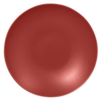RAK Porcelain NFBUBC26DR Neo Fusion 10 1/4 inch Magma Dark Red Porcelain Deep Coupe Plate   - 12/Case