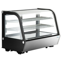 Avantco BCC-35-HC 34 1/2 inch Black Refrigerated Countertop Bakery Display Case with LED Lighting