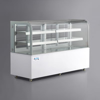Avantco BC-72-HC 72 inch Curved Glass White Refrigerated Bakery Display Case