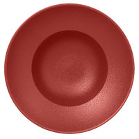 RAK Porcelain NFCLXD26DR Neo Fusion 10 1/4 inch Magma Dark Red Porcelain Extra Deep Plate - 6/Case