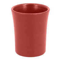 RAK Porcelain NFSPCU09DR Neo Fusion 3.1 oz. Magma Dark Red Porcelain Cup - 12/Case