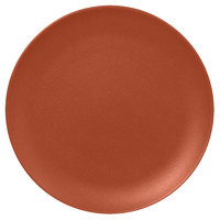 RAK Porcelain NFNNPR29BW Neo Fusion 11 3/8 inch Terra Brown Porcelain Flat Coupe Plate - 12/Case
