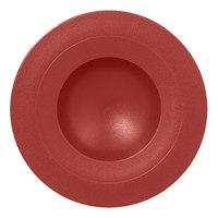 RAK Porcelain NFGDDP23DR Neo Fusion 9 1/16 inch Magma Dark Red Porcelain Deep Plate - 6/Case