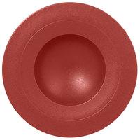 RAK Porcelain NFGDDP29DR Neo Fusion 11 3/8 inch Magma Dark Red Porcelain Deep Plate - 6/Case