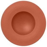 RAK Porcelain NFGDDP29BW Neo Fusion 11 3/8 inch Terra Brown Porcelain Deep Plate - 6/Case