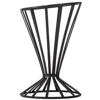 American Metalcraft FWB4 Flat Coil Wrought Iron Slanted Cone Basket - 4 1/2 inch x 7 1/2 inch