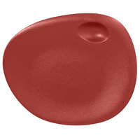 RAK Porcelain NFNBFP31DR Neo Fusion 12 3/16 inch Magma Dark Red Porcelain Coupe Plate - 6/Case