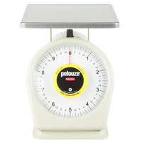 Rubbermaid FG810W Pelouze 10 lb. Portion Scale - 9 inch x 9 inch Platform