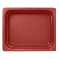 RAK Porcelain NFBU1.2DR Neo Fusion 12 13/16 inch x 10 7/16 inch Magma Dark Red Porcelain Gastronorm Pan - 2/Case