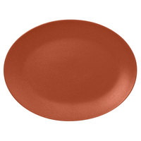 RAK Porcelain NFNNOP36BW Neo Fusion 14 3/16 inch x 10 5/8 inch Terra Brown Porcelain Oval Coupe Platter - 6/Case