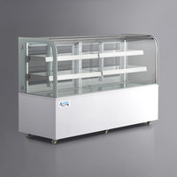 Avantco BCD-72 72 inch Curved Glass White Dry Bakery Display Case