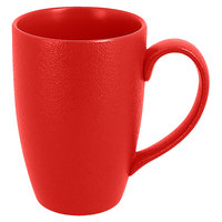 RAK Porcelain NFBAMG45BR Neo Fusion 15.2 oz. Ember Red Porcelain Mug - 12/Case