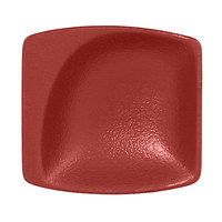 RAK Porcelain NFMZMS08DR Neo Fusion 3 1/8 inch x 2 15/16 inch Magma Dark Red Porcelain Mini Square Dish - 6/Case