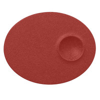 RAK Porcelain NFMROP18DR Neo Fusion 7 1/8 inch Magma Dark Red Porcelain Oval Plate - 12/Case