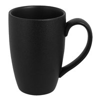 RAK Porcelain NFBAFM30BK Neo Fusion 10.2 oz. Volcano Black Porcelain Mug - 6/Case