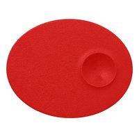 RAK Porcelain NFMROP18BR Neo Fusion 7 1/8 inch Ember Red Porcelain Oval Plate - 12/Case