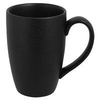 RAK Porcelain NFBAMG45BK Neo Fusion 15.2 oz. Volcano Black Porcelain Mug - 12/Case