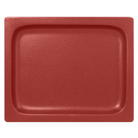 RAK Porcelain NFBU1.2FDR Neo Fusion 12 13/16 inch x 10 7/16 inch Magma Dark Red Porcelain Gastronorm Pan - 3/Case