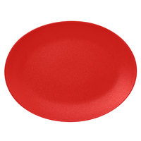 RAK Porcelain NFNNOP36BR Neo Fusion 14 3/16 inch x 10 5/8 inch Ember Red Porcelain Oval Coupe Platter - 6/Case