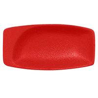 RAK Porcelain NFMZMR11BR Neo Fusion 4 1/4 inch x 2 1/8 inch Ember Red Porcelain Mini Rectangular Dish - 6/Case