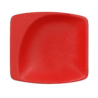 RAK Porcelain NFMZMS08BR Neo Fusion 3 1/8 inch x 2 15/16 inch Ember Red Porcelain Mini Square Dish - 6/Case